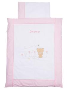 Kinderbettwäsche Mit Namen Honey Bear Rosa