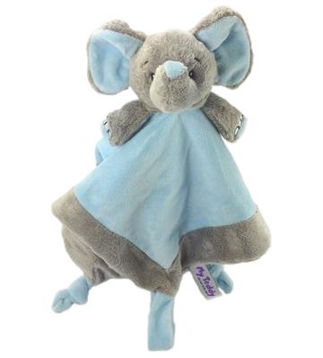schnuffeltuch elefant in grau hellblau my teddy. Black Bedroom Furniture Sets. Home Design Ideas